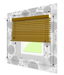 measurement guides wooden blinds direct
