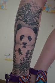 panda tattoo done in 2012 by sergey furmanov ala kz panda