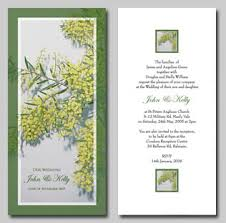 wedding invitations online australia golden wattle wedding invitations wedding stationery online