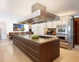 galley kitchens with island large brown varnished wooden storage kitchen island combined