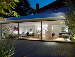 Single Story Flat Roof House Designs Flat Roofed And Glass Walled Extension To Traditionally Built
