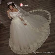 2017 vintage off the shoulder ball gown wedding dresses top lace