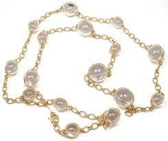 crystal necklace rock images Verdura rock crystal bubbles gold station necklace at 1stdibs jpeg