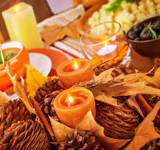 thanksgiving day table decor stock photo om 36115277