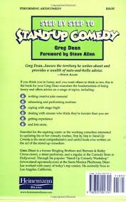 step by step to stand up comedy greg dean steve allen