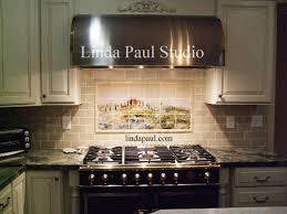 Tile Backsplashes For Kitchens Kitchen Tuscan Tile Murals Kitchen Backsplashes Tuscany Art Tiles