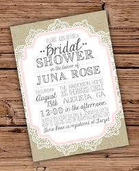 bridal shower invitations bridal shower invitations burlap and lace