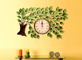 metal tree design wall clock indian handicraft design home decor