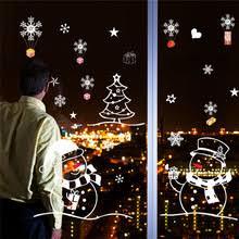 Christmas Window Glass Decorations by Online Get Cheap Christmas Window Stickers Aliexpress Com
