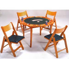 5 piece card table set 5 piece oak card table w chairs set 6184 86 wd idollarstore com