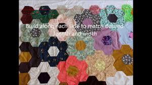 flower garden quilt pattern grandma u0027s flower garden quilt top layout youtube