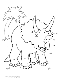 dinosaurs triceratops dinosaur coloring