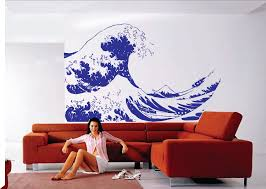 18 wave wall decals gone surfing wave wall decal sticker wall huge kanagawa wave wall decal hokusai wall decal sticker art graphic
