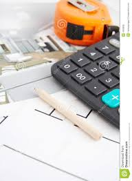floor plan and tools royalty free stock images image 4656839