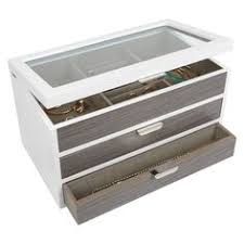 jewelry box 50 loft by umbra jewelry box chrome grey jewelry holders 79 brl