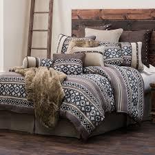 Western Bedding Set Hiend Accents Tucson Western Comforter Set King Home