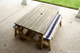 kid u0027s picnic table makeover diy inspired