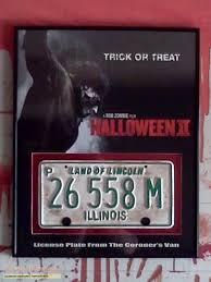 halloween 2 rob zombie u0027s license plate from the coroner u0027s van