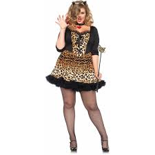 plus halloween costume leg avenue plus size 4 piece wildcat halloween costume