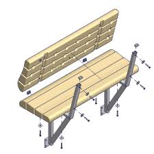 Deck Bench Bracket Shoremaster Poly Dock Qc Off Deck Lake View Bench Tan