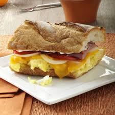 ham thanksgiving dinner ham u0027n u0027 egg sandwich recipe taste of home