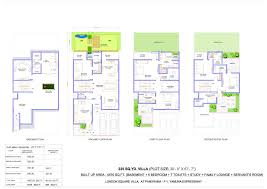 The Panorama Floor Plan by Ajnara London Square Villa Floor Plan Sector 22 A Yamuna