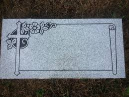 granite headstones granite headstone 2 x1 x4 with cross and scroll upstate