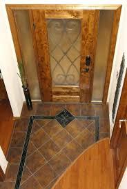 custom entryway grand foyer floor tile medallion and border laser