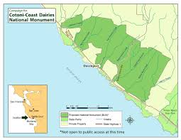 Ca State Parks Map by Cotoni Coast Dairies National Monument California Coastal