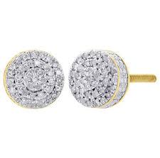 real diamond earrings stud yellow gold 10k diamond earrings ebay
