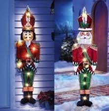 Outdoor Lighted Christmas Wall Decorations by Outdoor Santa Claus Decorations Foter