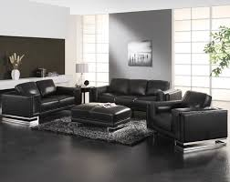 Elegant Livingrooms Beige Leather Comfy Sofa With Unique Black Leather Living Room