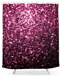 society6 beautiful pink glitter sparkles shower curtain