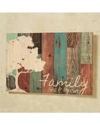 tree wood wall p graham dunn family forever multicolor tree rustic 16 x