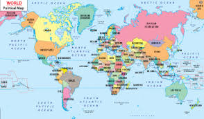 map of the countries map of with countries map
