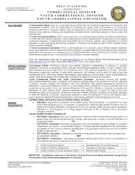Examples Of Federal Government Resumes by Juvenile Detention Officer Resume Example Http Www