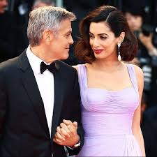 is amal clooney hair one length 178 best star couples amal george clooney images on pinterest