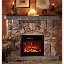 Electric Fireplace With Mantel Unifire Polystone Electric Fireplace With Mantel 4400 Btu Model