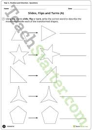 geometry worksheets position and direction year 2 teaching