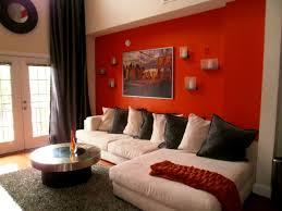 apartments handsome decorating ideas using orange sofa living