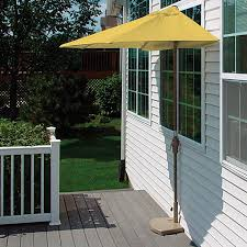 shop blue star group brella yellow half round patio umbrella