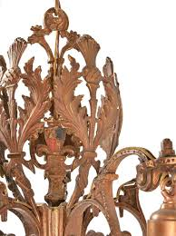 cast bronze 5 light tudor chandeliers u2014 architectural antiques