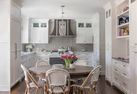 what color backsplash with gray cabinets classic white kitchen with grey backsplash home bunch