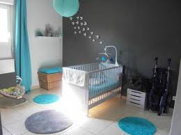chambre bebe turquoise gris blanc babykamer
