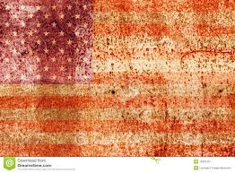 Faded American Flag Faded American Flag On Metal Stock Image Image 15852731