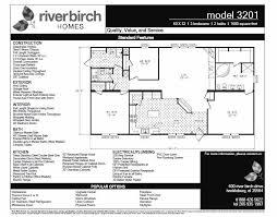 Double Wide Homes Floor Plans Riverbirch Double Wide Floor Plans