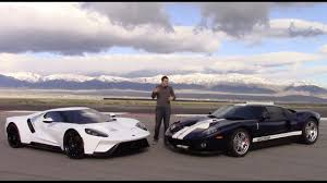 ford old first old 2005 ford gt and new 2017 ford gt comparison