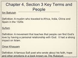traveled definition images Chapter 4 section 3 key terms and people ibn battutah definition jpg