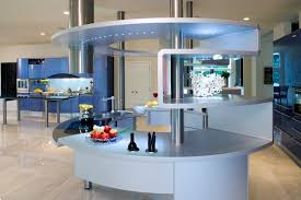 acropolis kitchen by pininfarina design with blue wall cabinets by