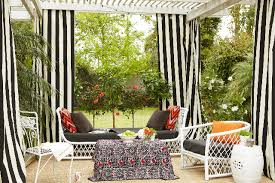 Black Outdoor Curtains Bright And Modern Striped Outdoor Curtains Black White Curtains